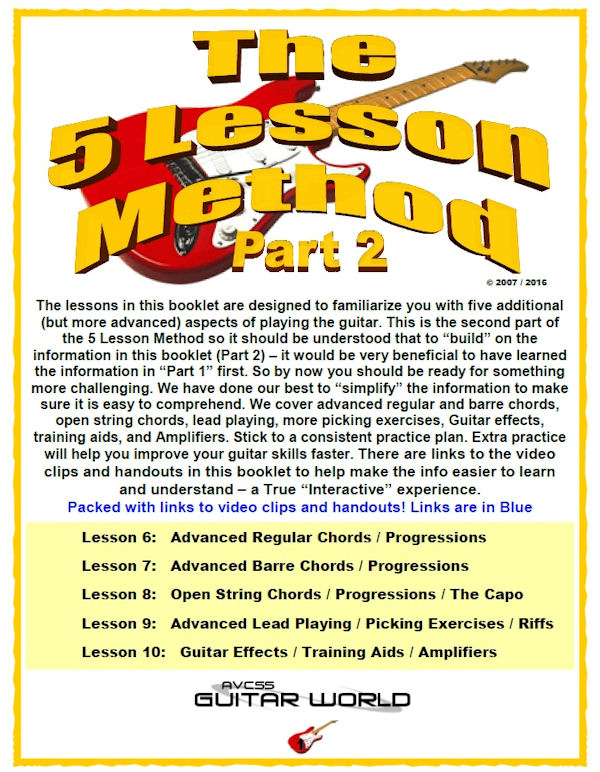 The 5 Lesson Guitar Method - Part 2