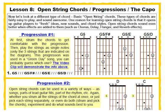 The 5 Lesson Method Part 2 Avcss Guitar World