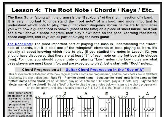 The 5 Lesson Bass Guitar Method - AVCSS Guitar World